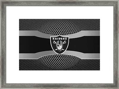 Oakland Raiders Framed Print by Joe Hamilton