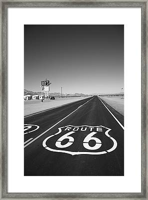 Route 66 Shield Framed Print by Frank Romeo