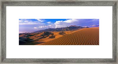 Sand Dunes In A Desert, Great Sand Framed Print by Panoramic Images