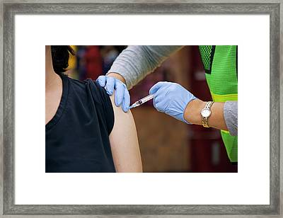 Swine Flu (h1n1) Vaccination Framed Print by Jim West