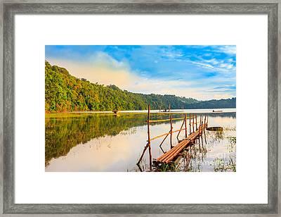Tamblingan Lake Framed Print by MotHaiBaPhoto Prints