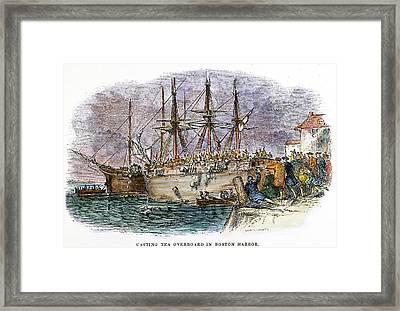 The Boston Tea Party, 1773 Framed Print by Granger
