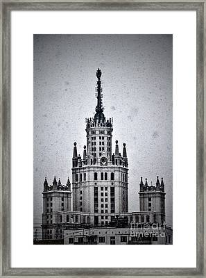 7 Towers Of Moscow Framed Print by Stelios Kleanthous