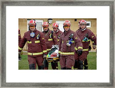 Training Exercise For Major Emergency Framed Print by Public Health England