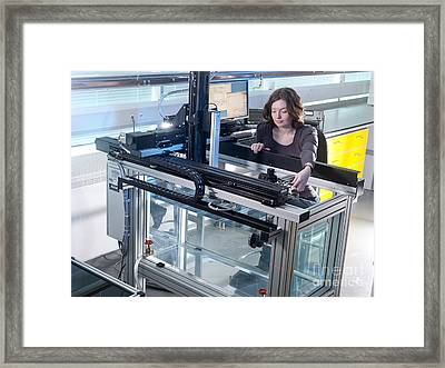 Ultrasound Beam Plotting Tests Framed Print by Andrew Brookes, National Physical Laboratory