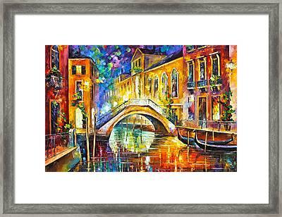 Venice Framed Print by Leonid Afremov