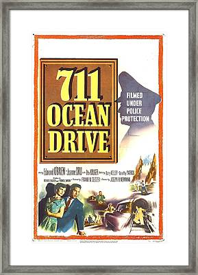 711 Ocean Drive, Us Poster, Bottom Framed Print by Everett