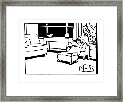 Untitled Framed Print by Bruce Eric Kaplan