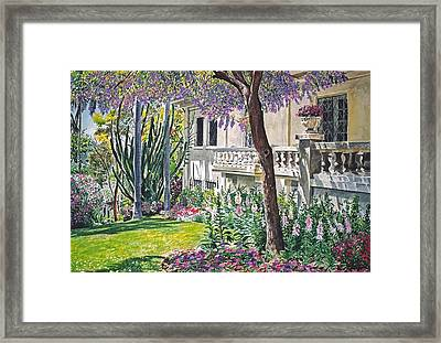 A Visit To Virginia's Framed Print by David Lloyd Glover