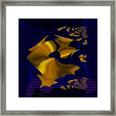 780 - Golden Foil Framed Print by Irmgard Schoendorf Welch