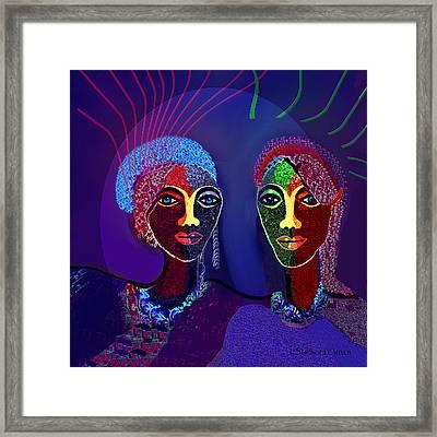 787 - Wild Purple .... Framed Print by Irmgard Schoendorf Welch
