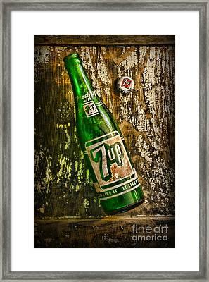 7up Soda Bottle Framed Print by Paul Ward