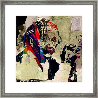 Albert Einstein Framed Print by Marvin Blaine
