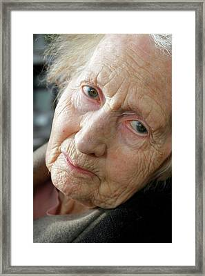 Alzheimer's Patient Framed Print by Tony Craddock