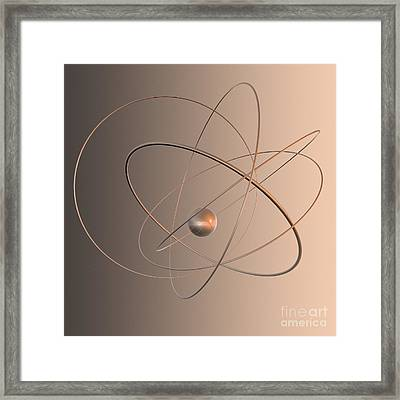 Atomic Structure Framed Print by Mehau Kulyk