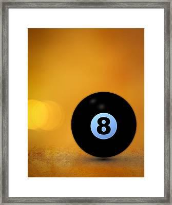 8 Ball Framed Print by Bob Orsillo