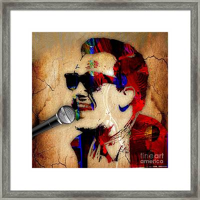 Billy Joel Collection Framed Print by Marvin Blaine