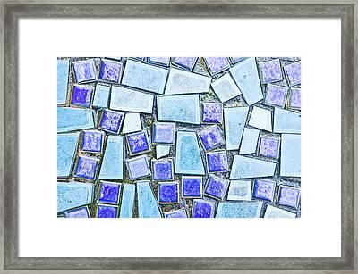 Blue Tiles Framed Print by Tom Gowanlock