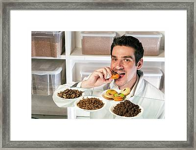 Breeding Insects For Human Consumption Framed Print by Philippe Psaila