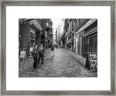 8 Cavern Court In Black And White Framed Print by Joan-Violet Stretch