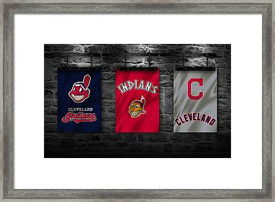 Cleveland Indians Framed Print by Joe Hamilton