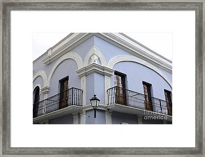 Colorful Old San Juan Framed Print by Birgit Tyrrell