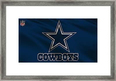Dallas Cowboys Uniform Framed Print by Joe Hamilton