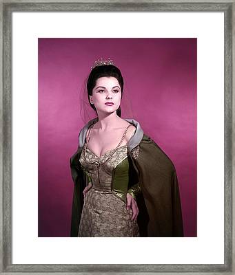 Debra Paget Framed Print by Silver Screen