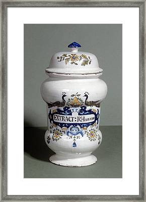 Drug Jar Framed Print by Science Photo Library
