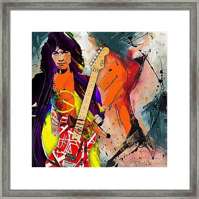 Eddie Van Halen Special Edition Framed Print by Marvin Blaine
