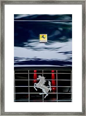 Ferrari Hood Emblem Framed Print by Jill Reger