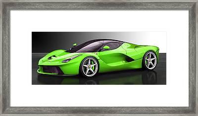 Ferrari Laferrari Framed Print by Marvin Blaine