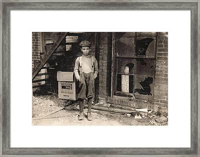 Hine Child Labor, 1917 Framed Print by Granger