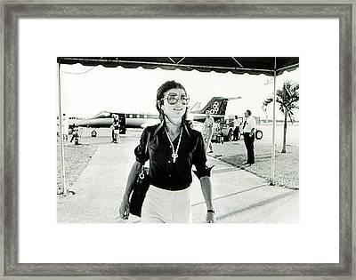 Jacqueline Kennedy Onassis Framed Print by Everett