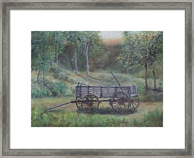 Wagon Wheel Framed Print by Frances Lewis