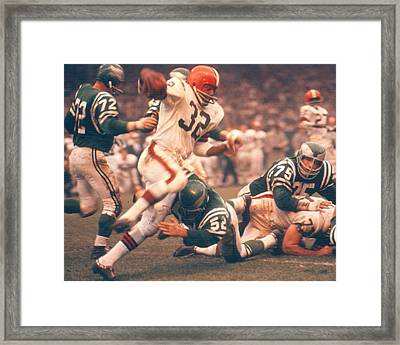Jim Brown By Art Rickerby Framed Print by Retro Images Archive