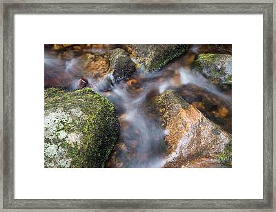 Landscape Of Becky Falls Waterfall In Dartmoor National Park Eng Framed Print by Matthew Gibson