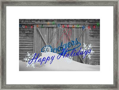 Los Angeles Dodgers Framed Print by Joe Hamilton