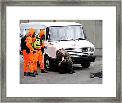 Radiation Emergency Response Training Framed Print by Public Health England