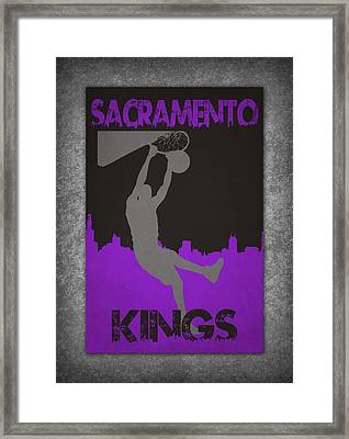 Sacramento Kings Framed Print by Joe Hamilton