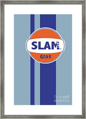 Slam One Gear Framed Print by James Eye