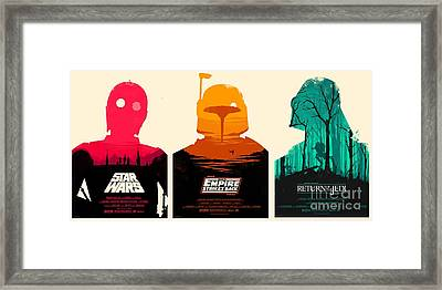 Star Wars Framed Print by Baltzgar