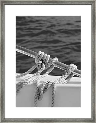 The Ropes Framed Print by Laura Fasulo