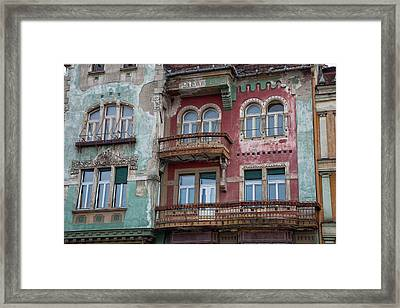 Timisoara In The Banat Of Romania Framed Print by Martin Zwick