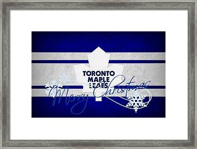 Toronto Maple Leafs Framed Print by Joe Hamilton