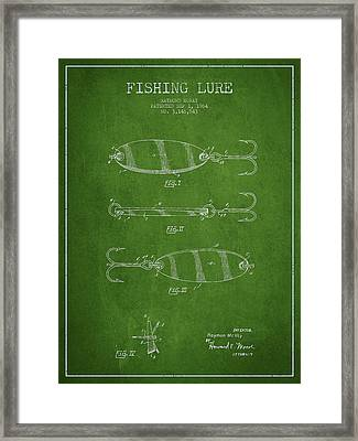 Vintage Fishing Lure Patent Drawing From 1964 Framed Print by Aged Pixel