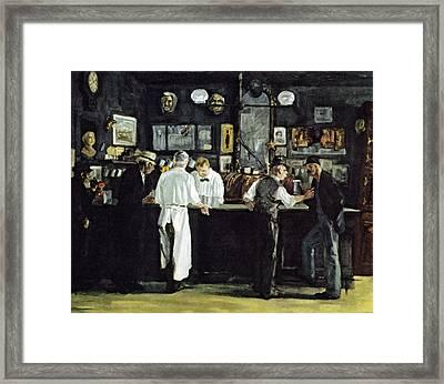 Mcsorleys Bar New York Framed Print by John Sloan