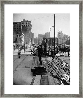 San Francisco Earthquake Framed Print by Granger
