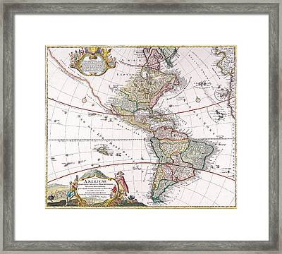 Antique Map Framed Print by Baltzgar