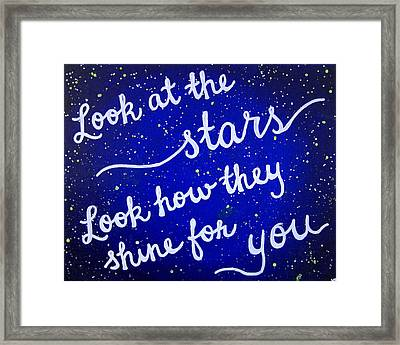 8x10 Look At The Stars Framed Print by Michelle Eshleman